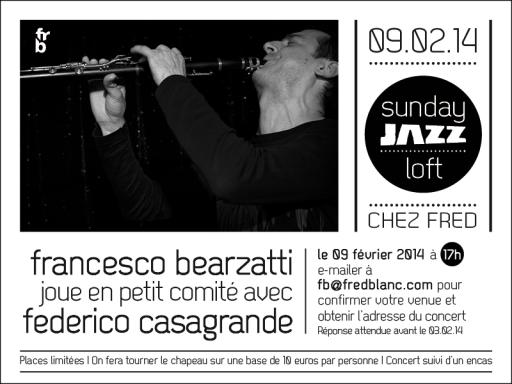 Francesco Bearzatti, saxophoniste tenor et clarinettiste, Federico Casagrande guitariste