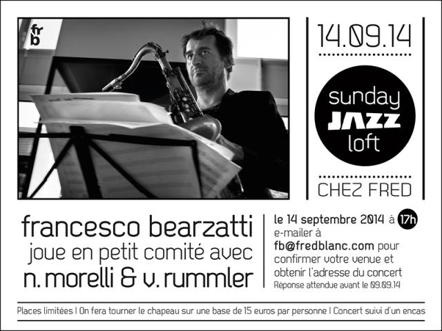 Invitation 5e Sunady jazz loft