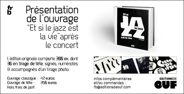 """Présentaion de l'ouvrage """"Et si le jazz est la vie"""""""